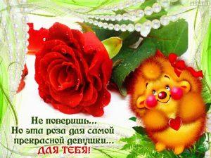 Самой красивой девушке   открытка 022