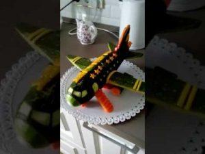 Самолет из овощей своими руками   картинки 025