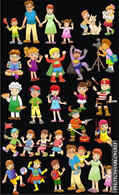 Семья картинки для детей на прозрачном фоне   скачать бесплатно 016