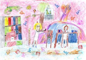 Сентябрь детские рисунки и картинки на заданную тему 026