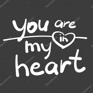 Сердце с надписью Ты в моем сердце   открытки (24)