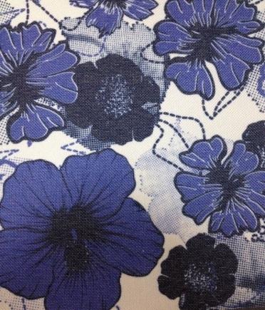 Синие цветы на белом фоне   фото 010