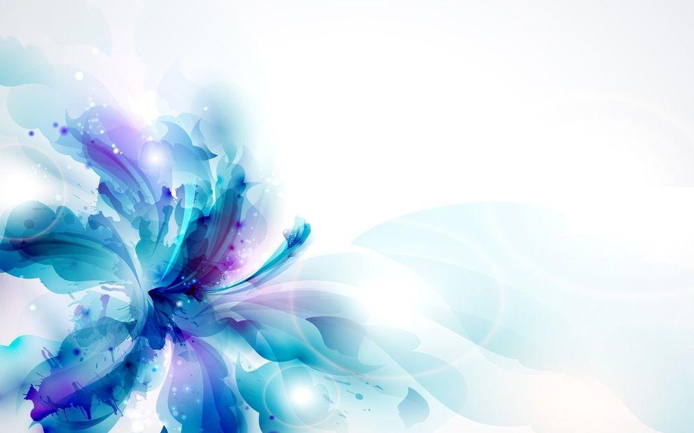 Синие цветы на белом фоне   фото 011