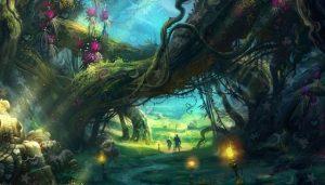 Сказочный лес картинки нарисованные и прикольные 027