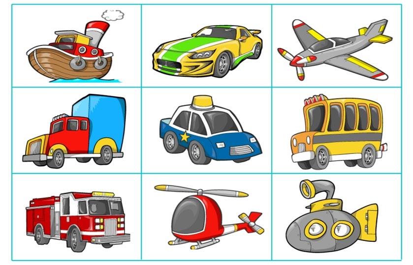 Подарочные открытки, картинки транспорта для дошкольников