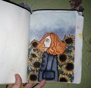 Скетчбук рисунки в стиле тумблер 015