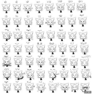 Смайлы для лд черно белые   картинки 020