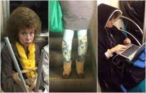 Смешные фото людей в метро   подборка 020