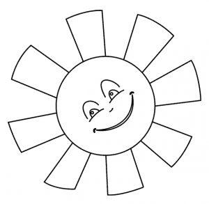 Солнце картинки для детей раскраски 002