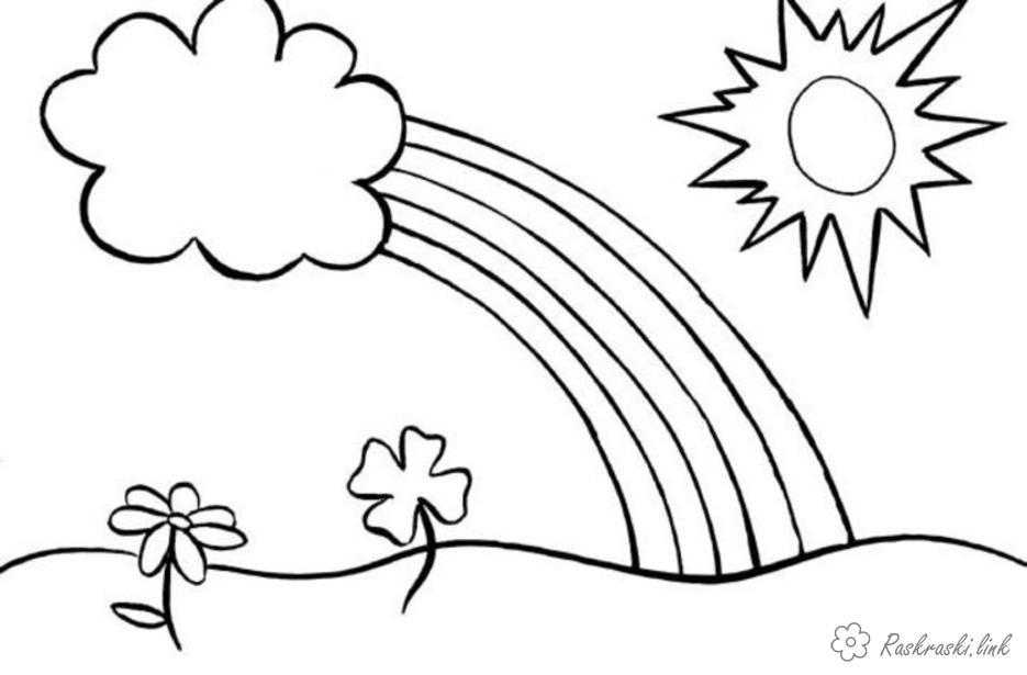 Солнце картинки для детей раскраски 004