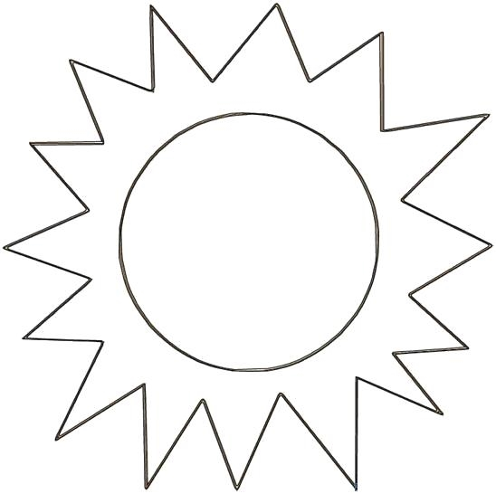 Солнце картинки для детей раскраски 012