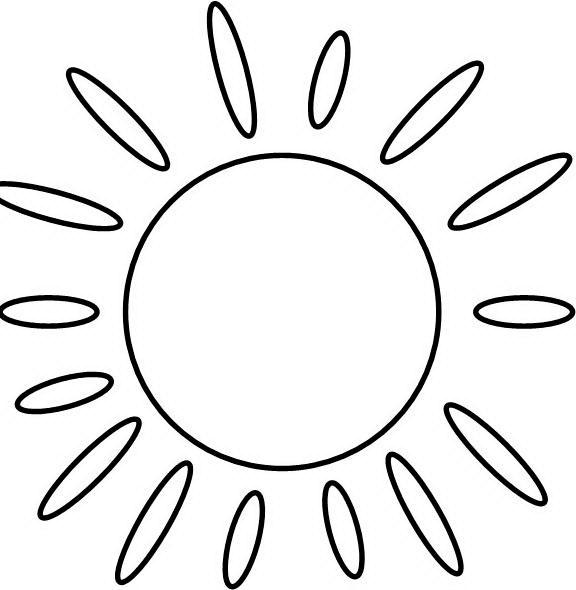 Солнце картинки для детей раскраски 013