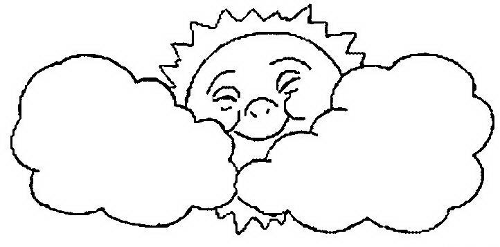 Солнце картинки для детей раскраски 015