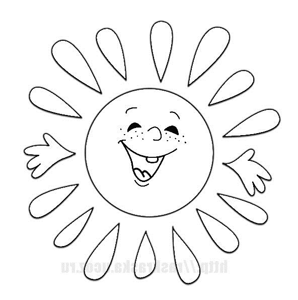 Солнце картинки для детей раскраски 023