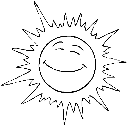Солнце картинки для детей раскраски 025