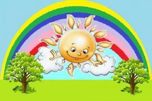 Солнце тучка дождик картинки для детей029