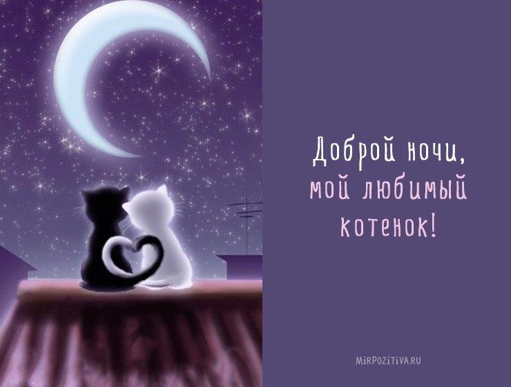 Спокойной ночи дорогому картинки и открытки004
