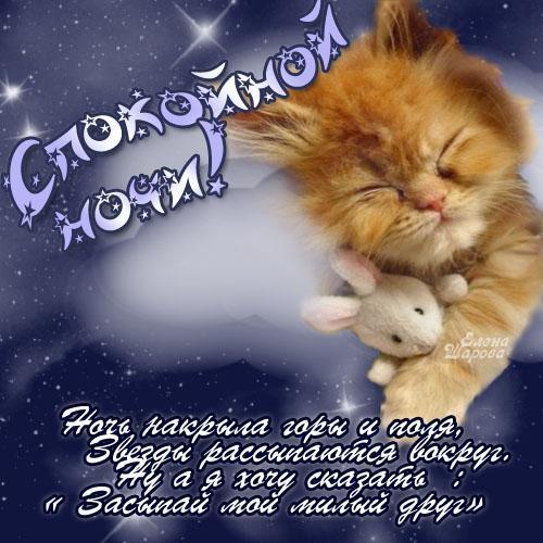 Спокойной ночи дорогому картинки и открытки019