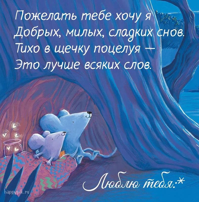 Спокойной ночи дорогому картинки и открытки022