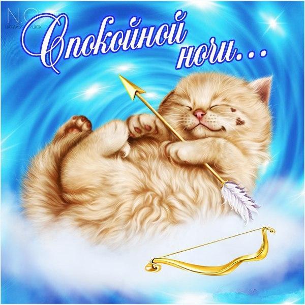 Спокойной ночи открытки любовные 005