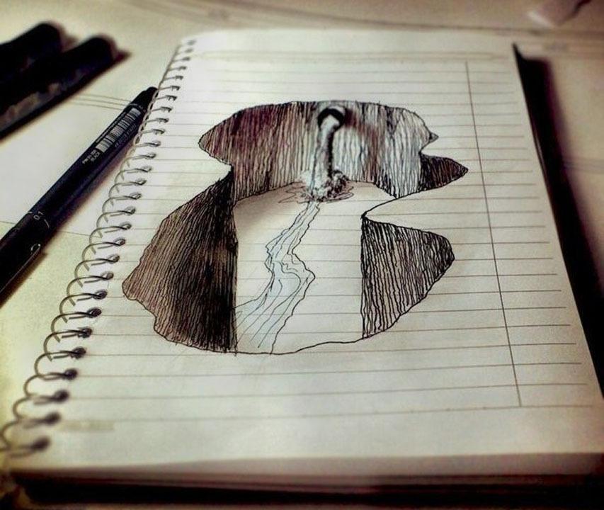 Срисовать карандашом прикольные рисунки   подборка 016