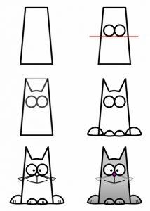Срисовать прикольные картинки карандашом   для детей 023