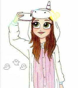 Срисовки красивые для девочек и девушек 024