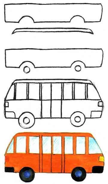 Старинный транспорт картинки для детей 008