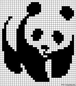 Схема вышивки крестом панда   картинки028