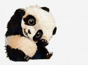 Схема вышивки панда крестом   подборка027