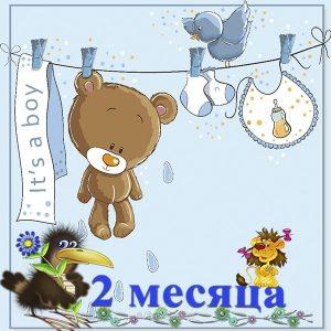 С Днем Рождения 2 месяца мальчику   красивые открытки (28)