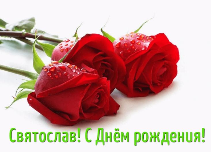 С днем рождения Святослава   лучшие открытки005