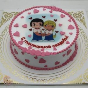 Торты на годовщину свадьбы 1 год   фото 024