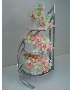 Торты на подставках свадебные фото 027