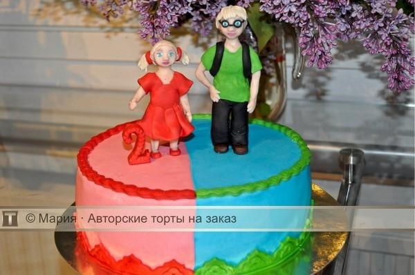Торт для брата и сестры   красивые фото018