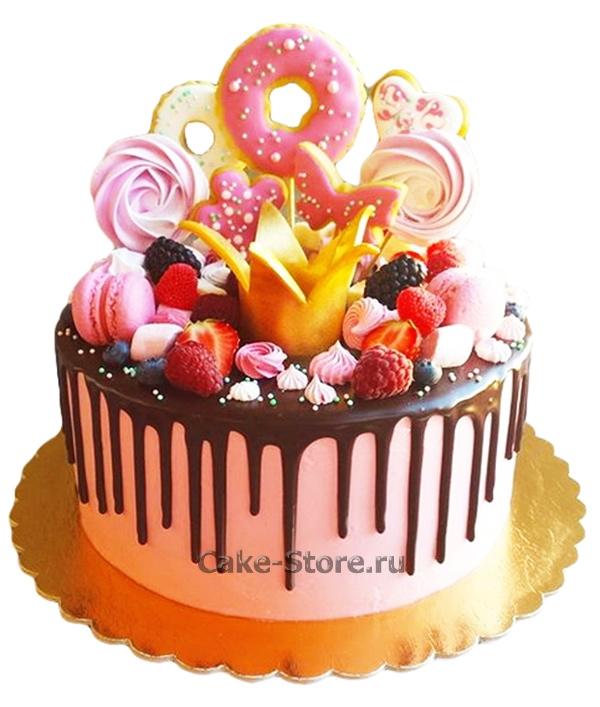 Торт для девочки 8 лет из мастики   фото 001