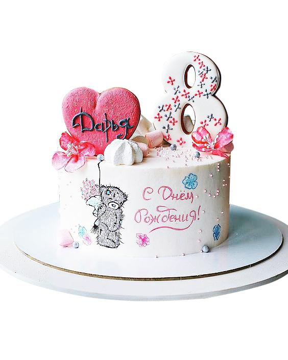 Торт для девочки 8 лет из мастики   фото 002
