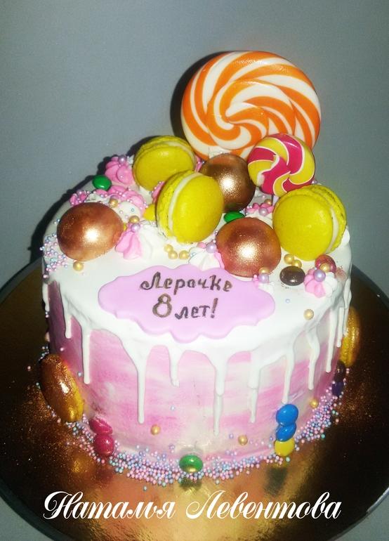 Торт для девочки 8 лет из мастики   фото 004