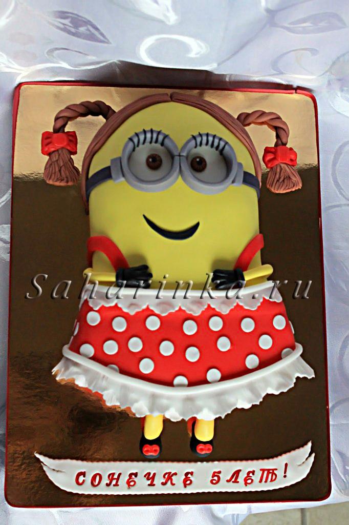 Торт для девочки 8 лет из мастики   фото 006