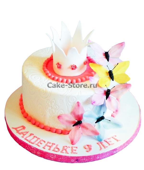 Торт для девочки 8 лет из мастики   фото 009
