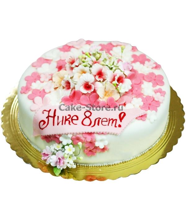 Торт для девочки 8 лет из мастики   фото 011