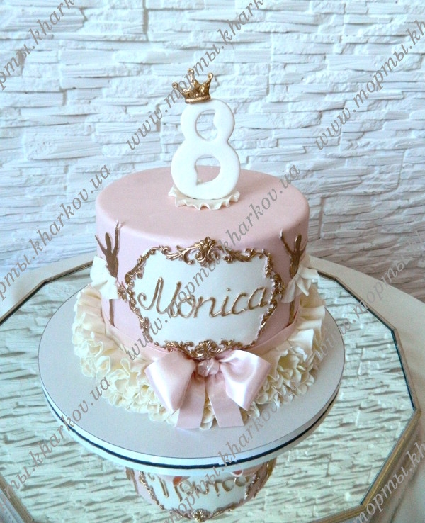 Торт для девочки 8 лет из мастики   фото 014
