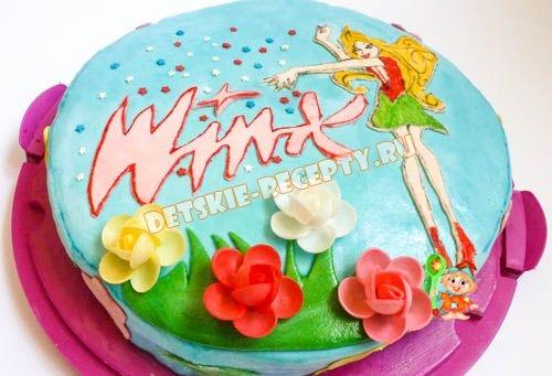 Торт для девочки 8 лет из мастики   фото 018