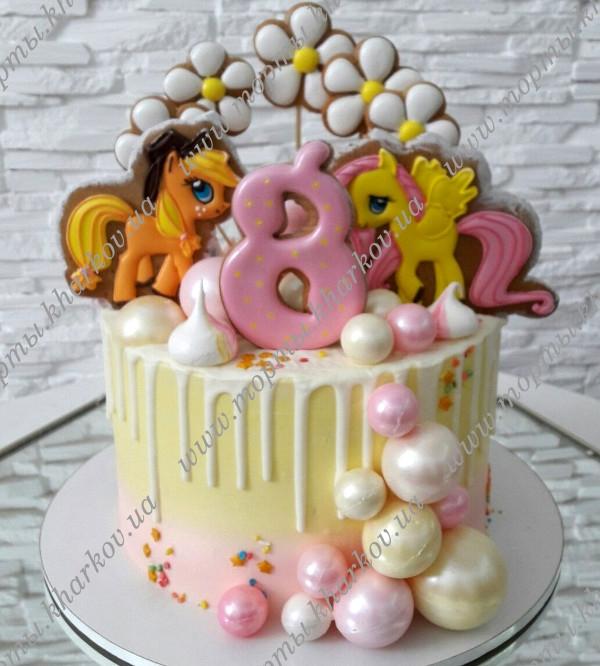 Торт для девочки 8 лет из мастики   фото 021