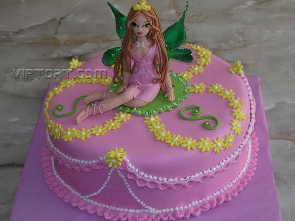 Торт для девочки 8 лет из мастики   фото 023
