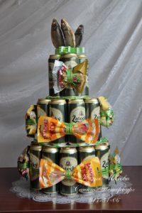 Торт для мужа на день рождения своими руками из пива029