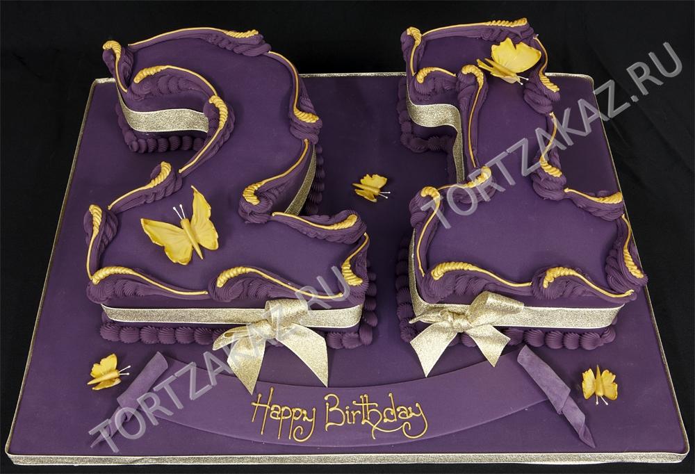 Торт на День Рождения на 21 год   подборка фото (28)