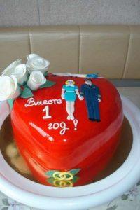 Торт на годовщину свадьбы сердце   фото 029