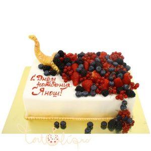 Торт на день рождения с ягодами фото и картинки027