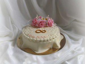 Торт на жемчужную свадьбу без мастики   фото (18)